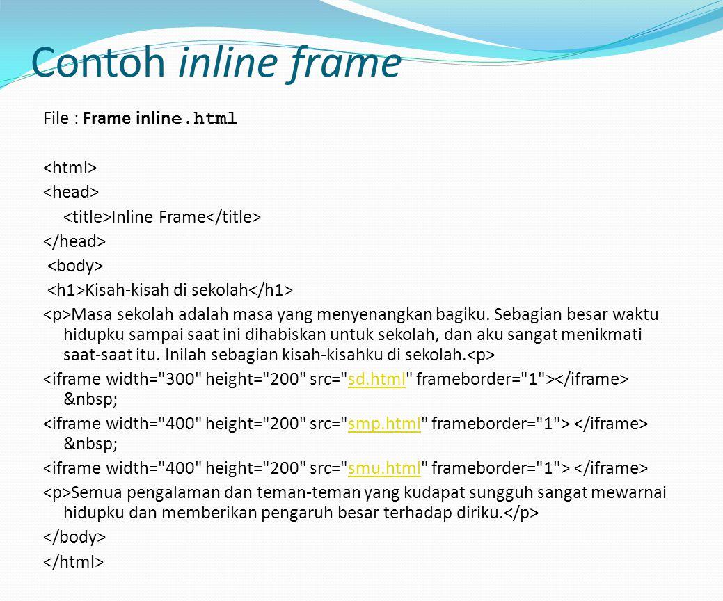 Contoh inline frame