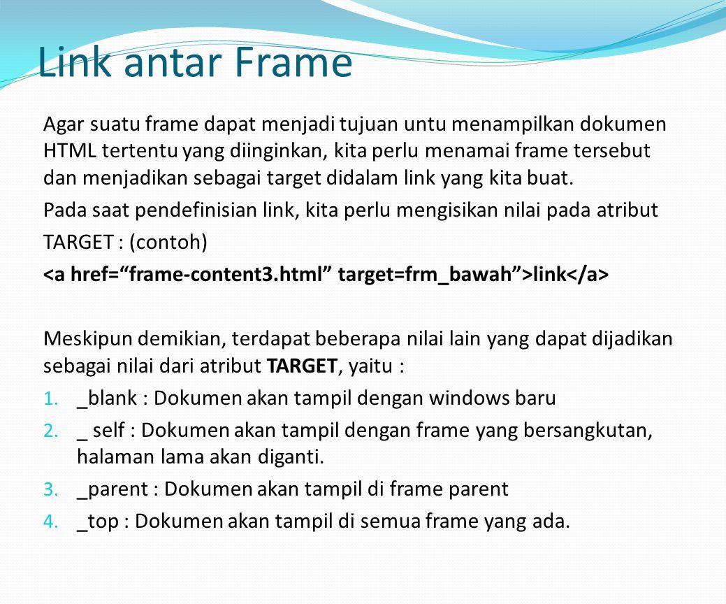 Link antar Frame
