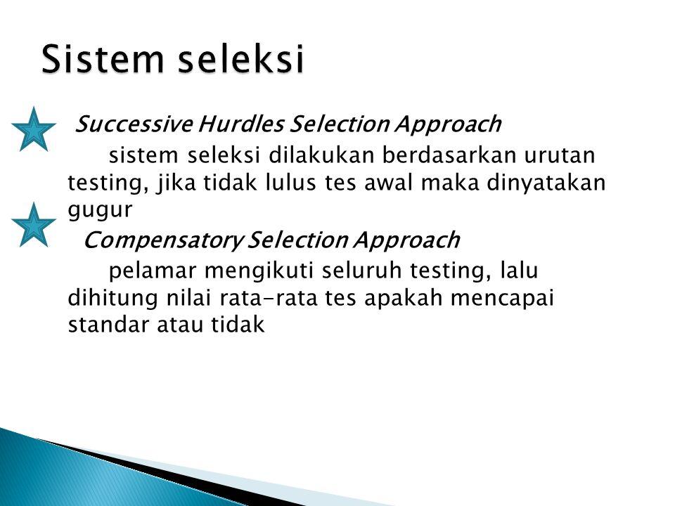 Sistem seleksi