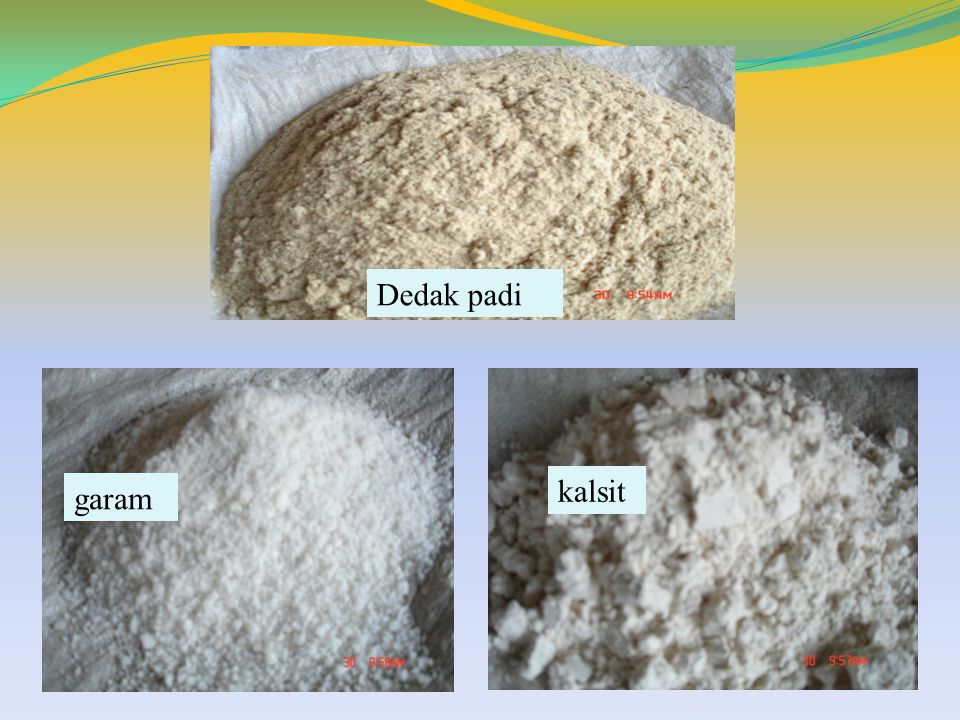 Dedak padi kalsit garam