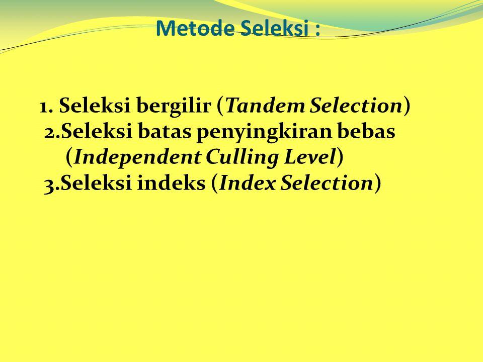 Metode Seleksi :