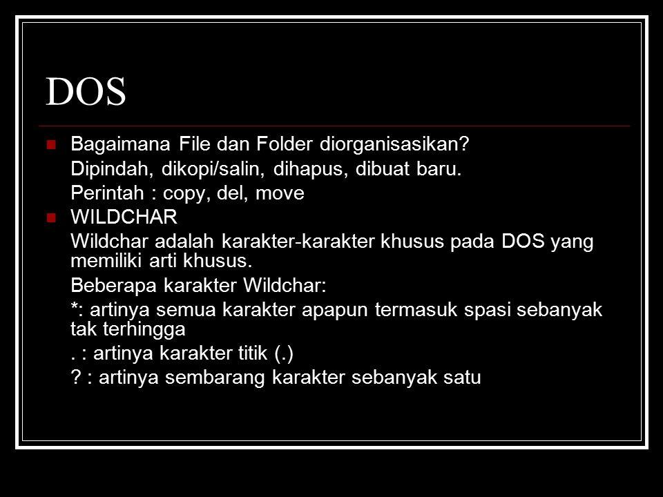 DOS Bagaimana File dan Folder diorganisasikan