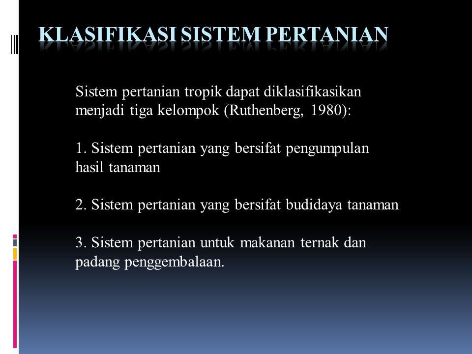 Klasifikasi Sistem Pertanian