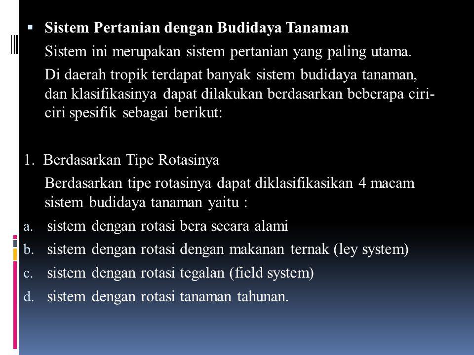 Sistem Pertanian dengan Budidaya Tanaman