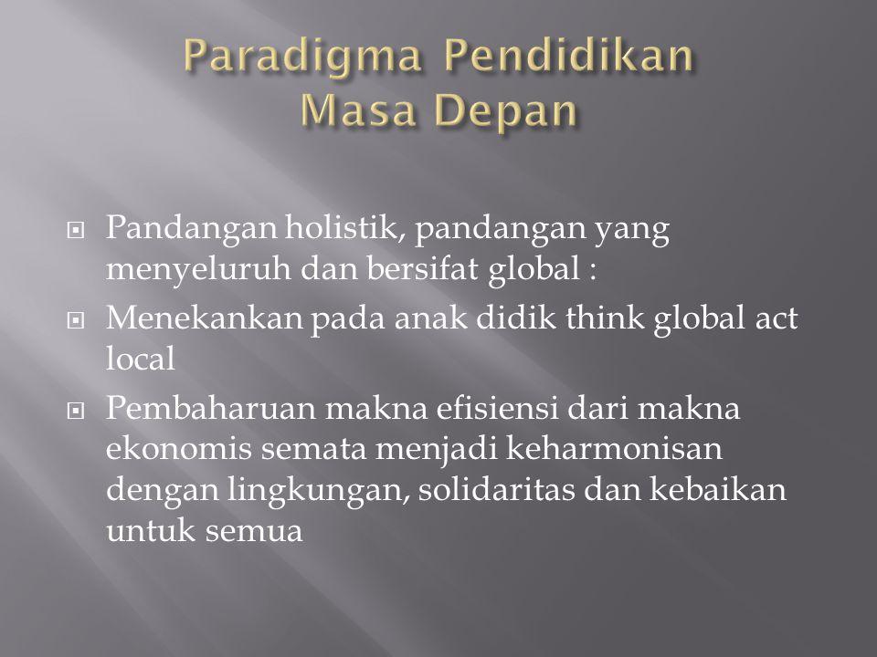 Paradigma Pendidikan Masa Depan