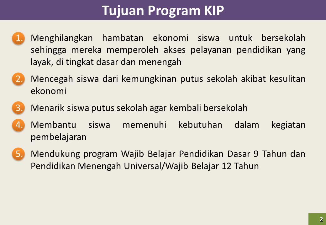 Tujuan Program KIP