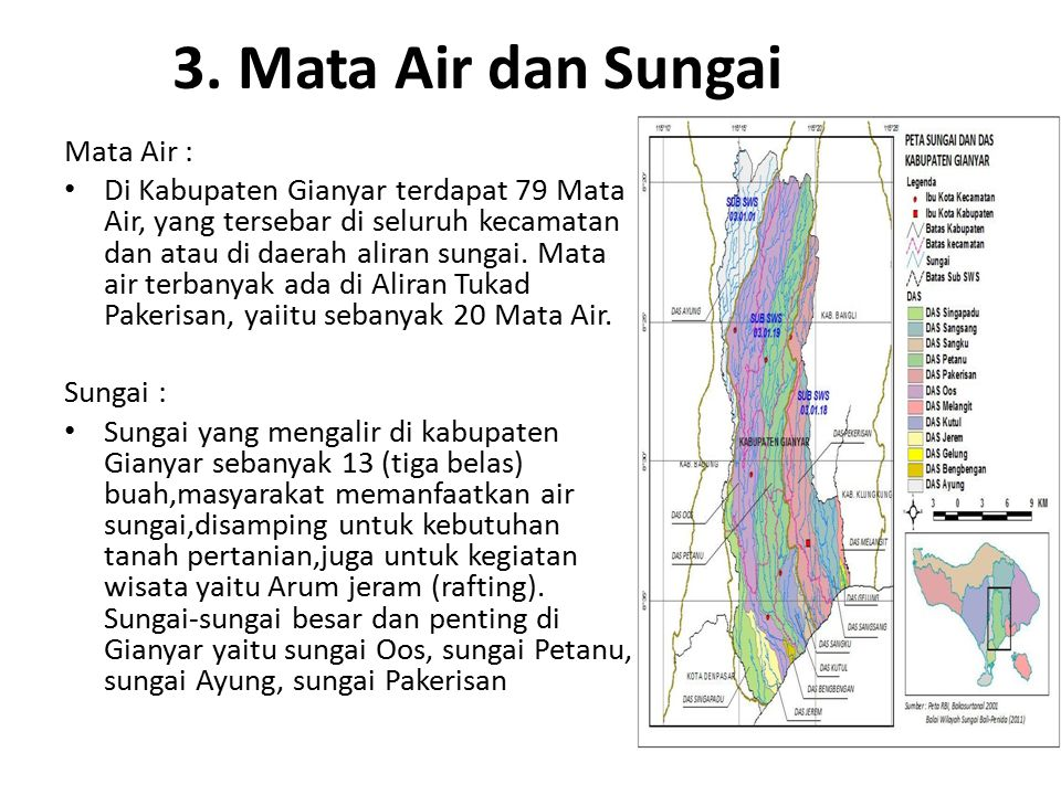 3. Mata Air dan Sungai Mata Air :