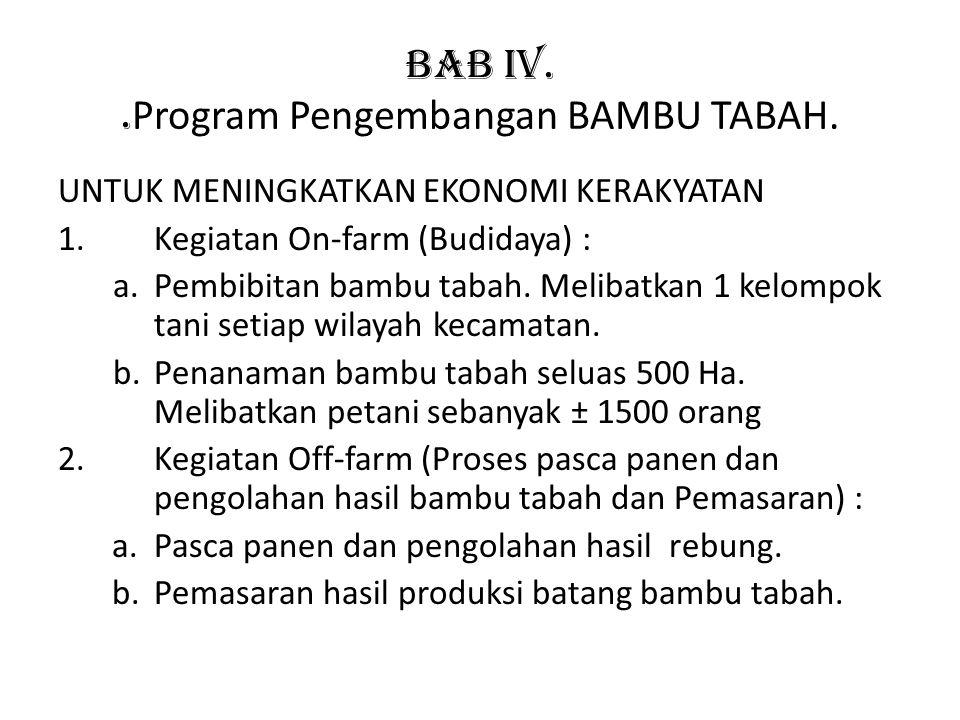 BAB IV. .Program Pengembangan BAMBU TABAH.