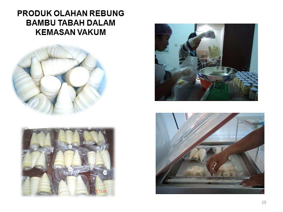 PRODUK OLAHAN REBUNG BAMBU TABAH DALAM KEMASAN VAKUM