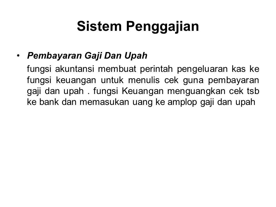 Sistem Penggajian Pembayaran Gaji Dan Upah