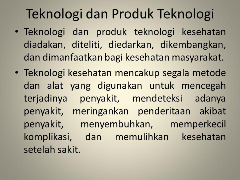 Teknologi dan Produk Teknologi