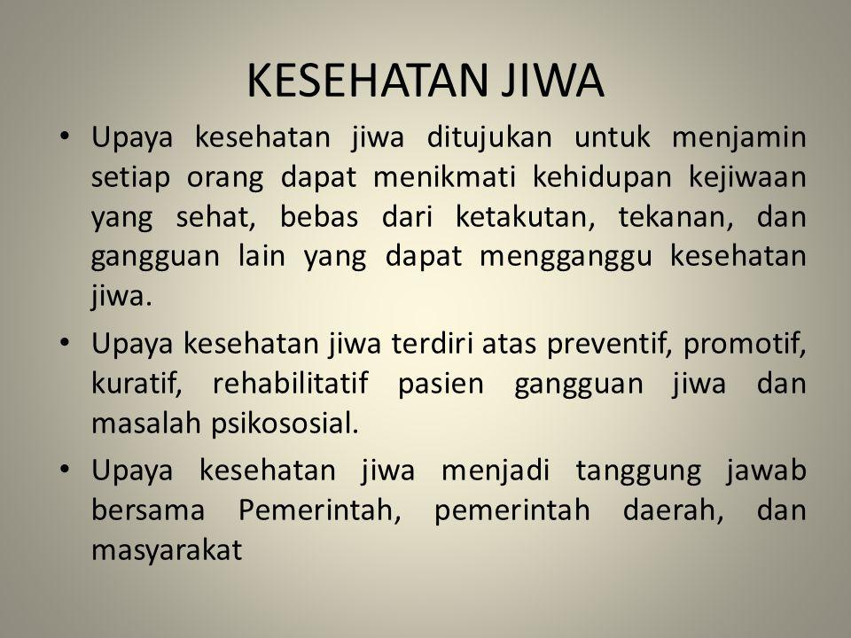 KESEHATAN JIWA