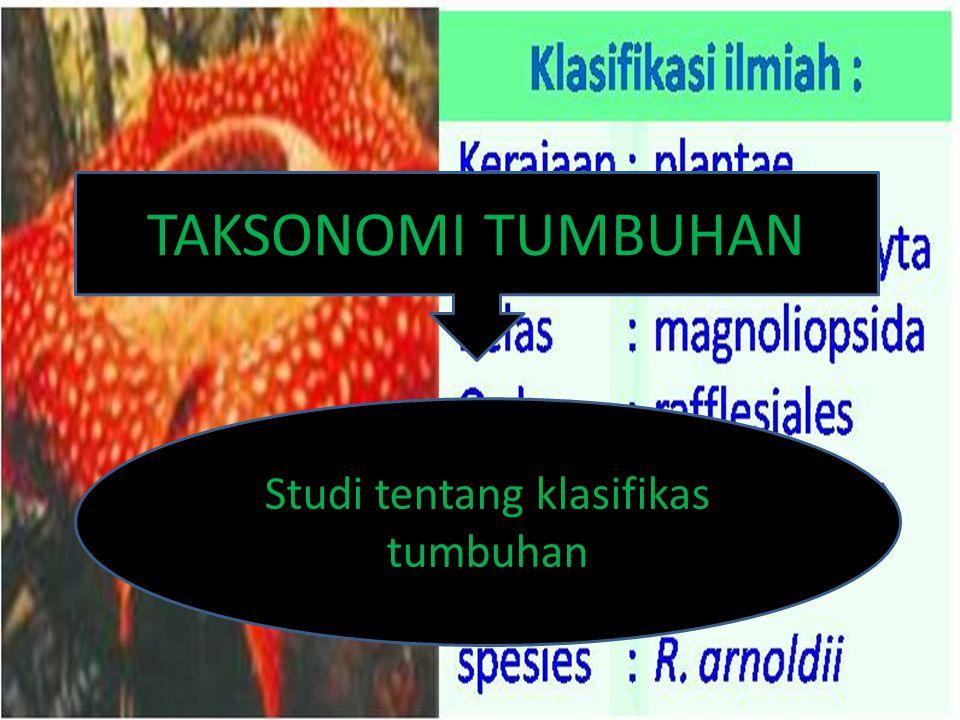 Studi tentang klasifikas tumbuhan