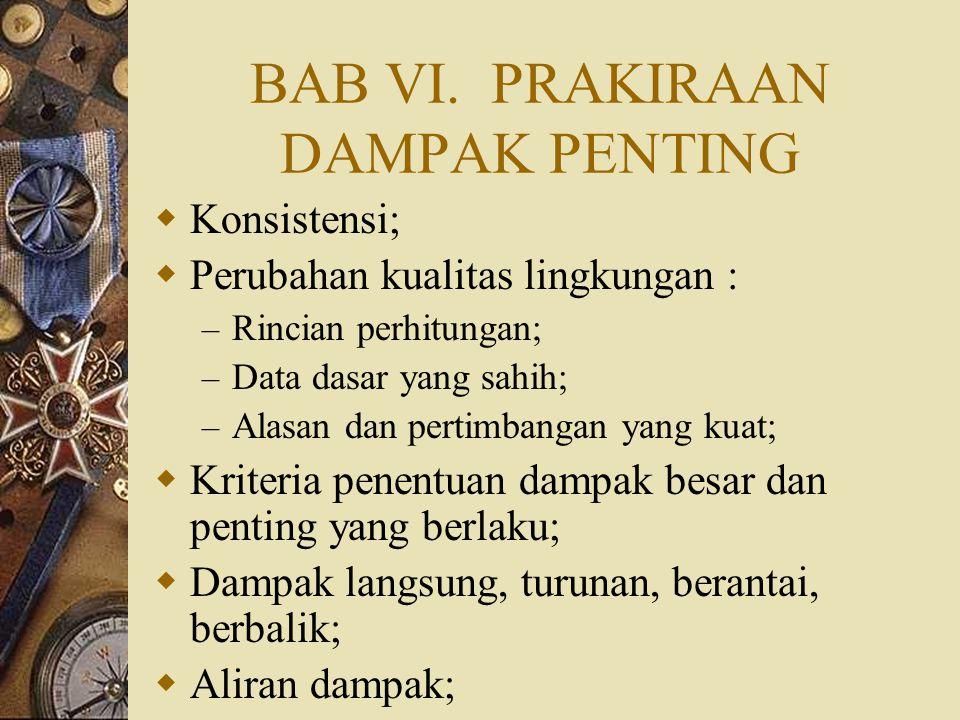 BAB VI. PRAKIRAAN DAMPAK PENTING