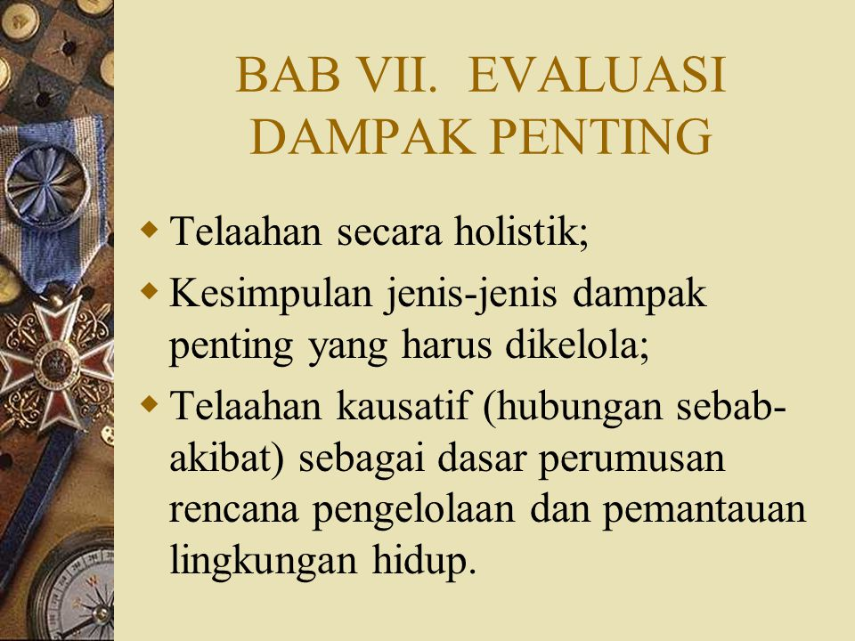 BAB VII. EVALUASI DAMPAK PENTING