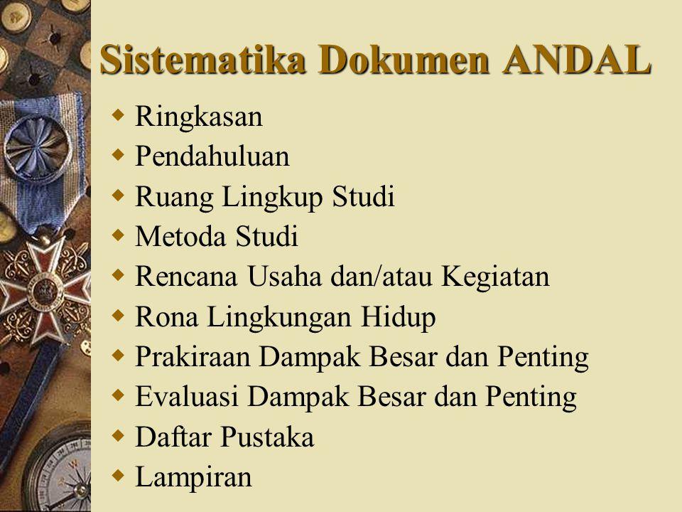 Sistematika Dokumen ANDAL