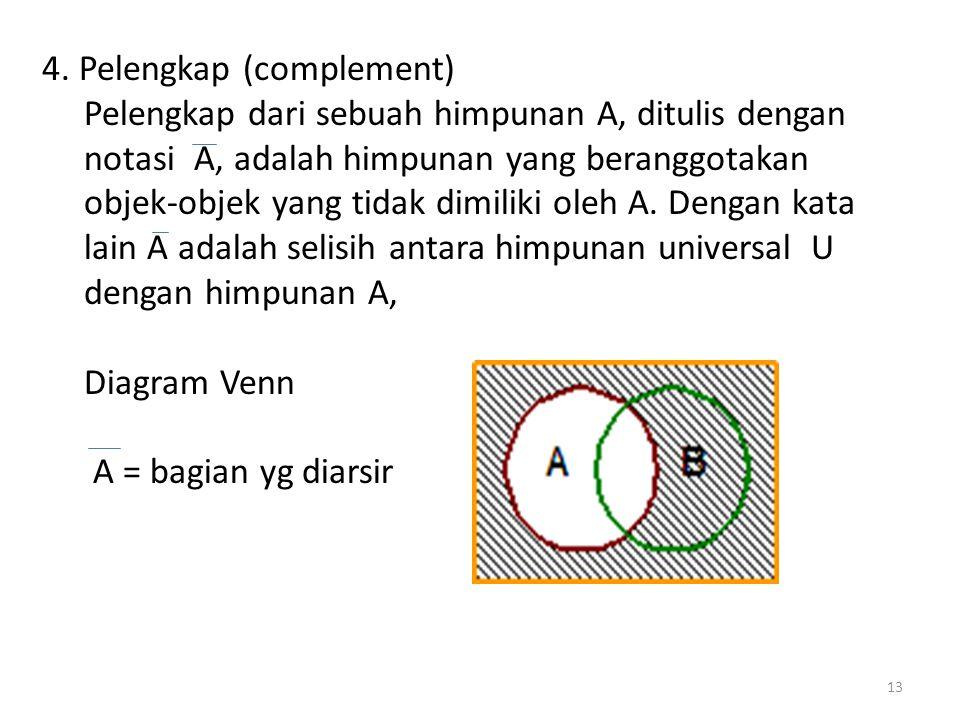 4. Pelengkap (complement)