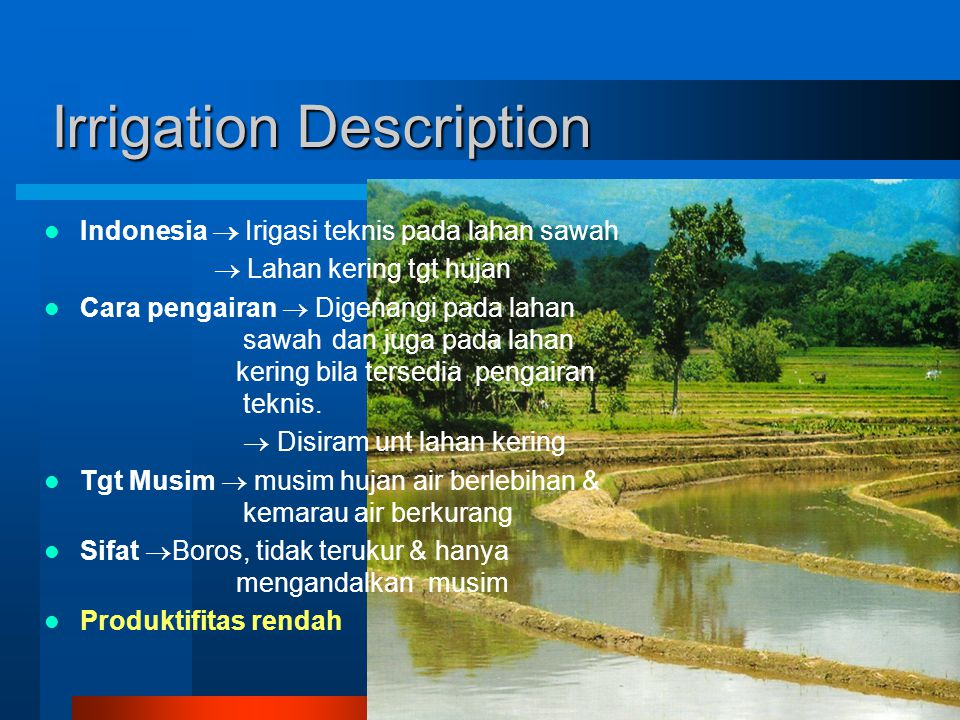 Irrigation Description