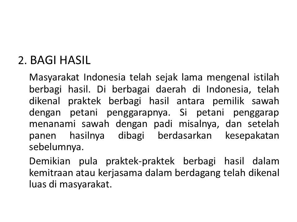 2. BAGI HASIL