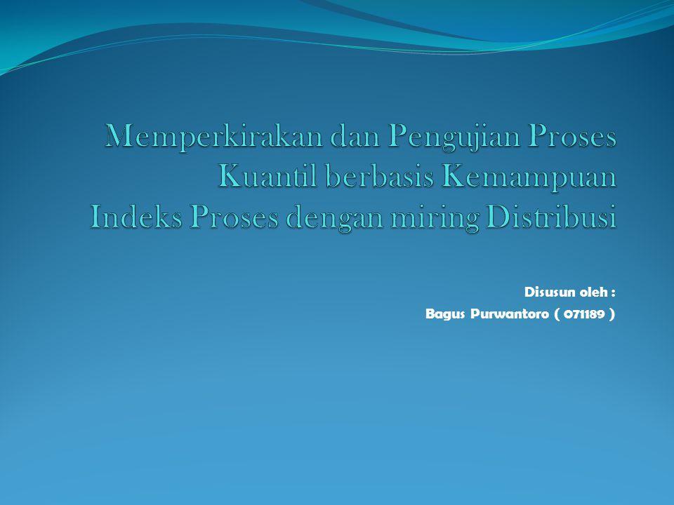 Disusun oleh : Bagus Purwantoro ( 071189 )