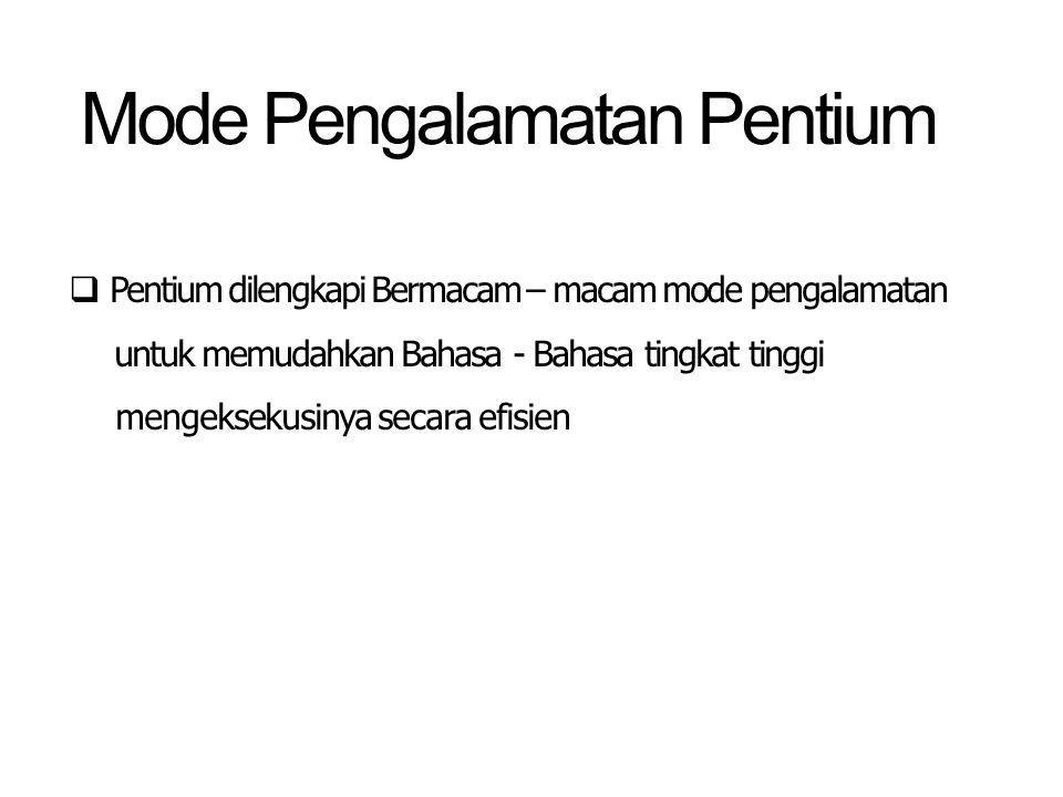 Mode Pengalamatan Pentium