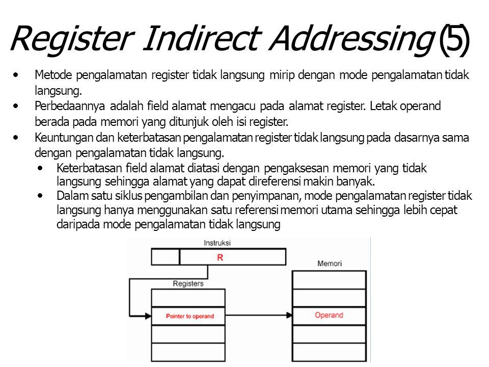 Register Indirect Addressing (5)