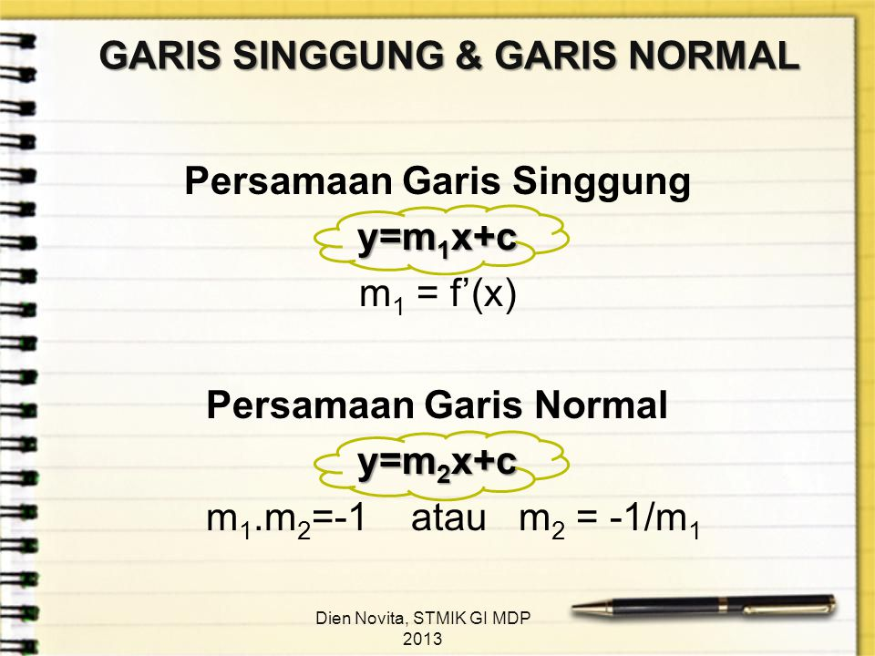 GARIS SINGGUNG & GARIS NORMAL
