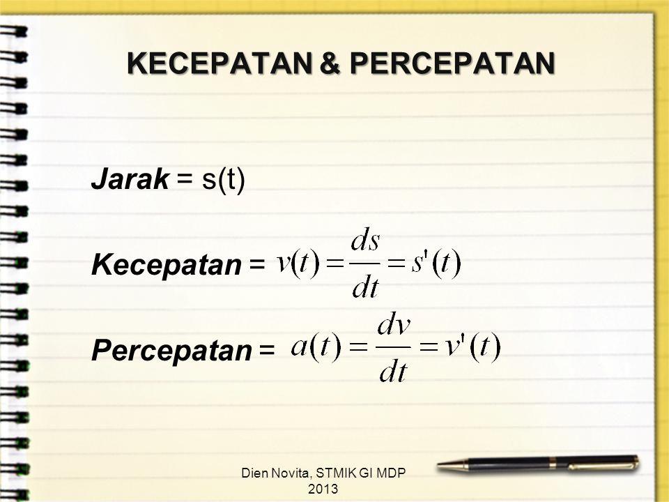 KECEPATAN & PERCEPATAN