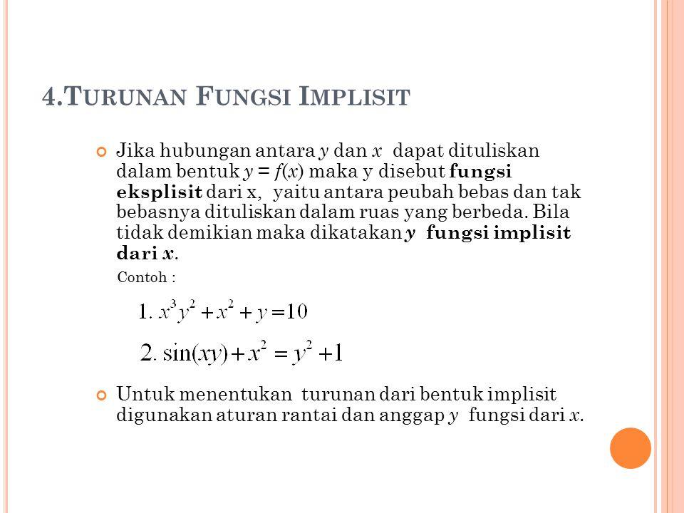 4.Turunan Fungsi Implisit
