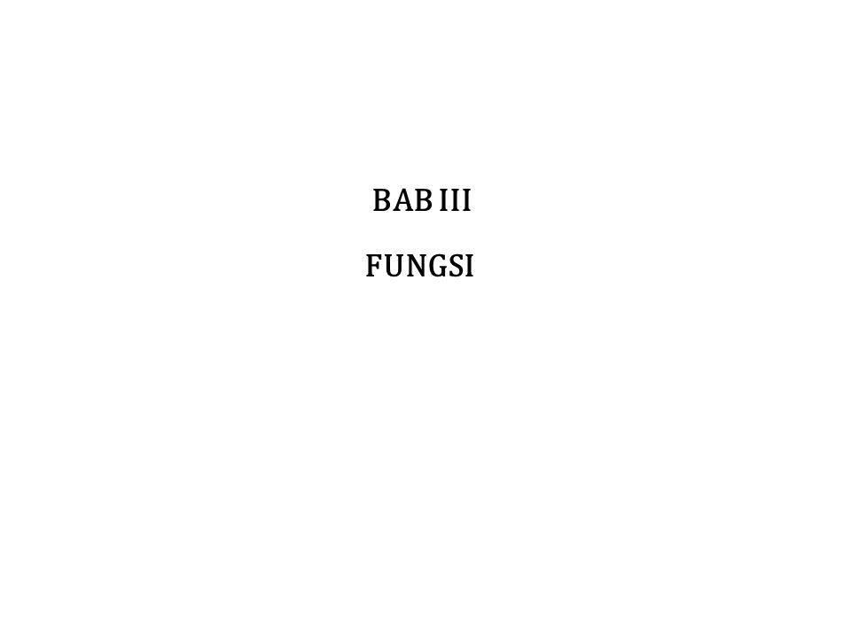 BAB III FUNGSI