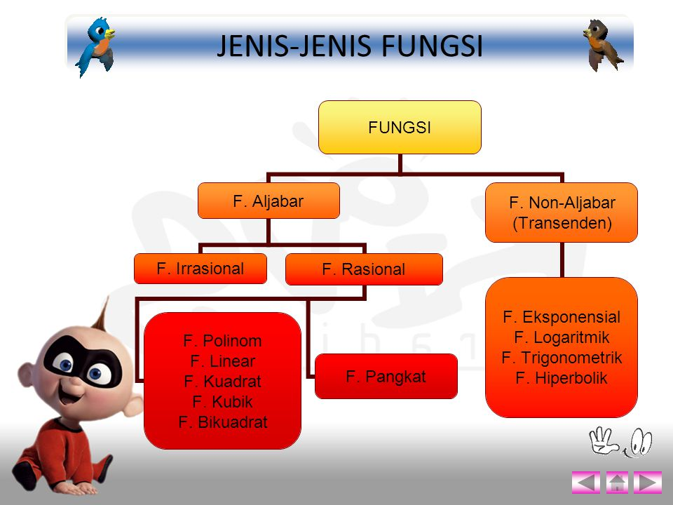 JENIS-JENIS FUNGSI
