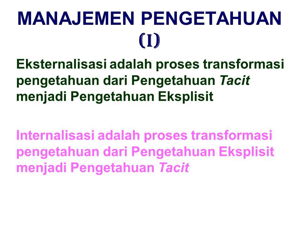 MANAJEMEN PENGETAHUAN (I)