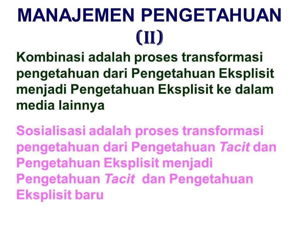 MANAJEMEN PENGETAHUAN (II)