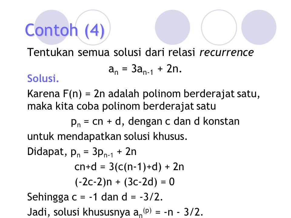 pn = cn + d, dengan c dan d konstan