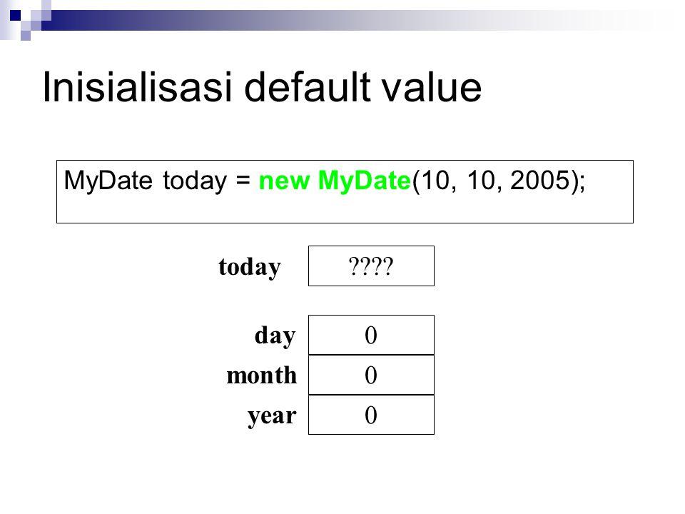 Inisialisasi default value