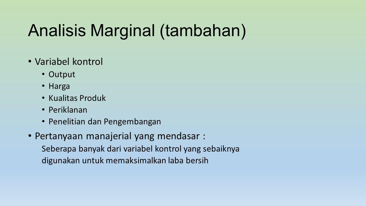 Analisis Marginal (tambahan)