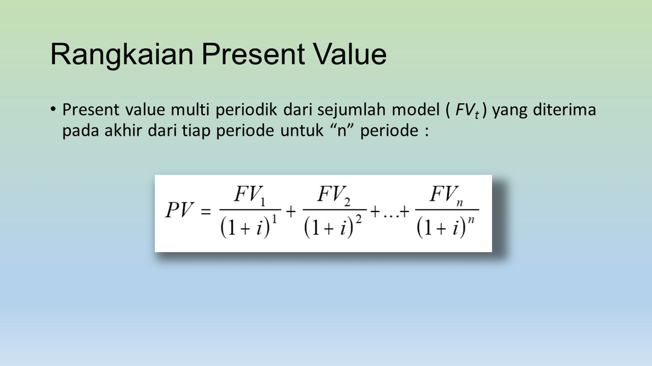Rangkaian Present Value