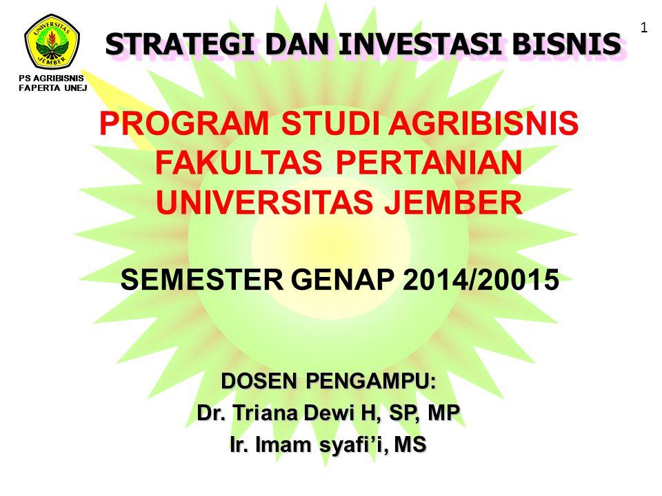 PROGRAM STUDI AGRIBISNIS