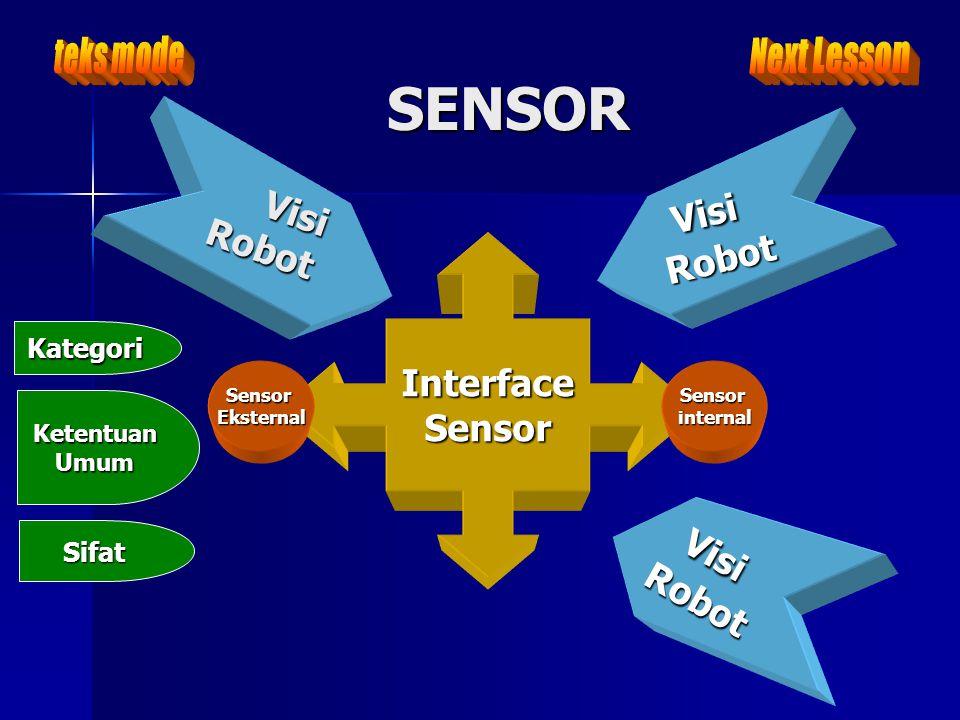 SENSOR Visi Visi Visi Robot Robot Interface Sensor Robot teks mode