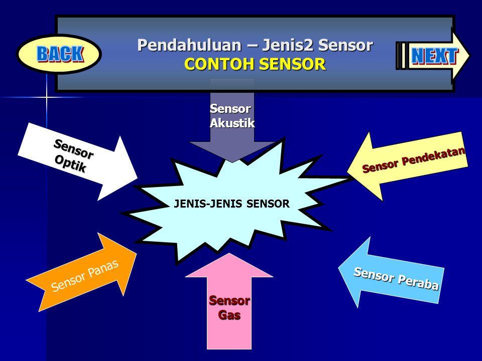 Pendahuluan – Jenis2 Sensor CONTOH SENSOR