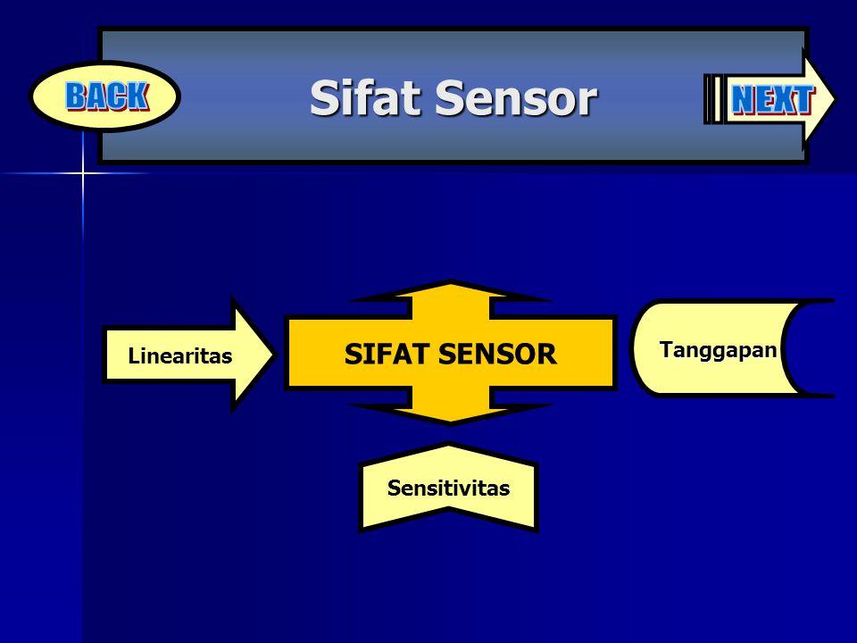 Sifat Sensor NEXT BACK SIFAT SENSOR Linearitas Tanggapan Sensitivitas