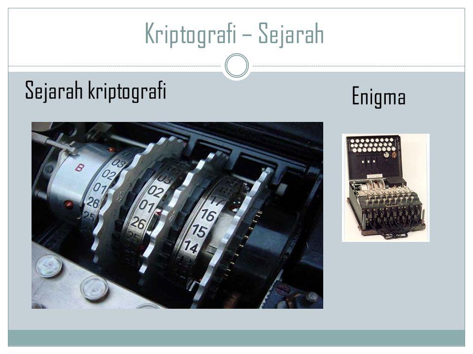 Kriptografi – Sejarah Sejarah kriptografi Enigma