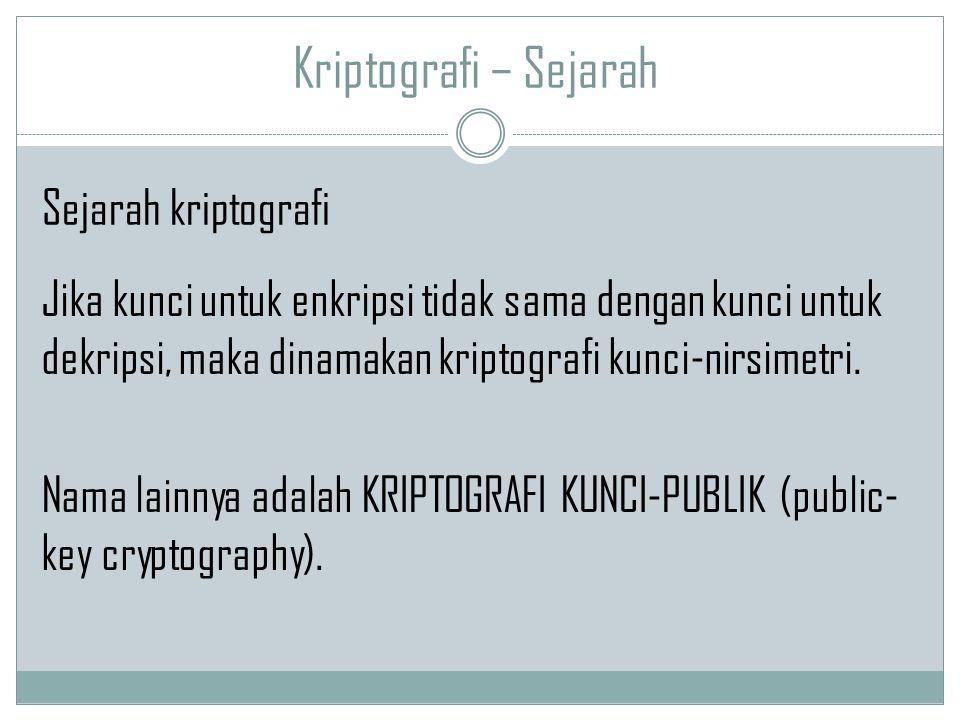 Kriptografi – Sejarah Sejarah kriptografi