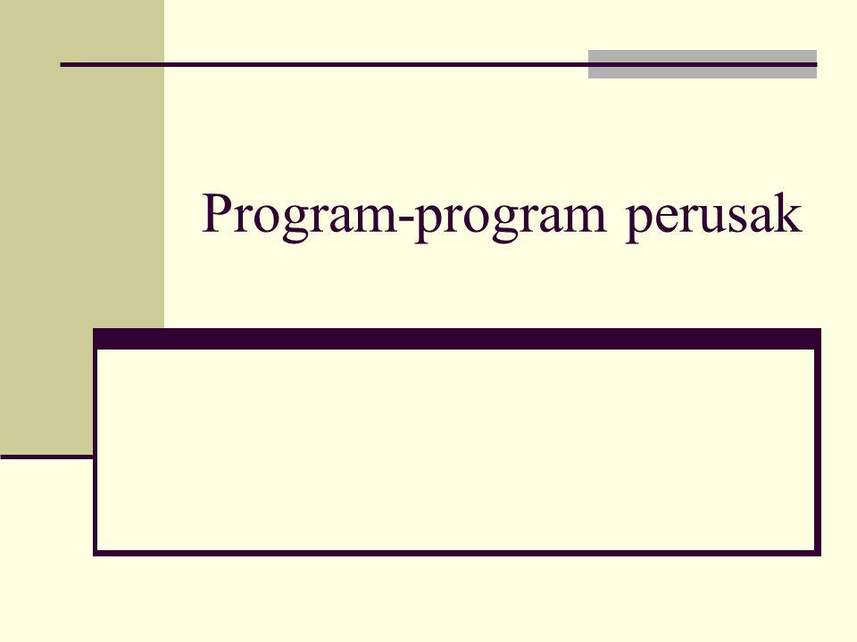 Program-program perusak