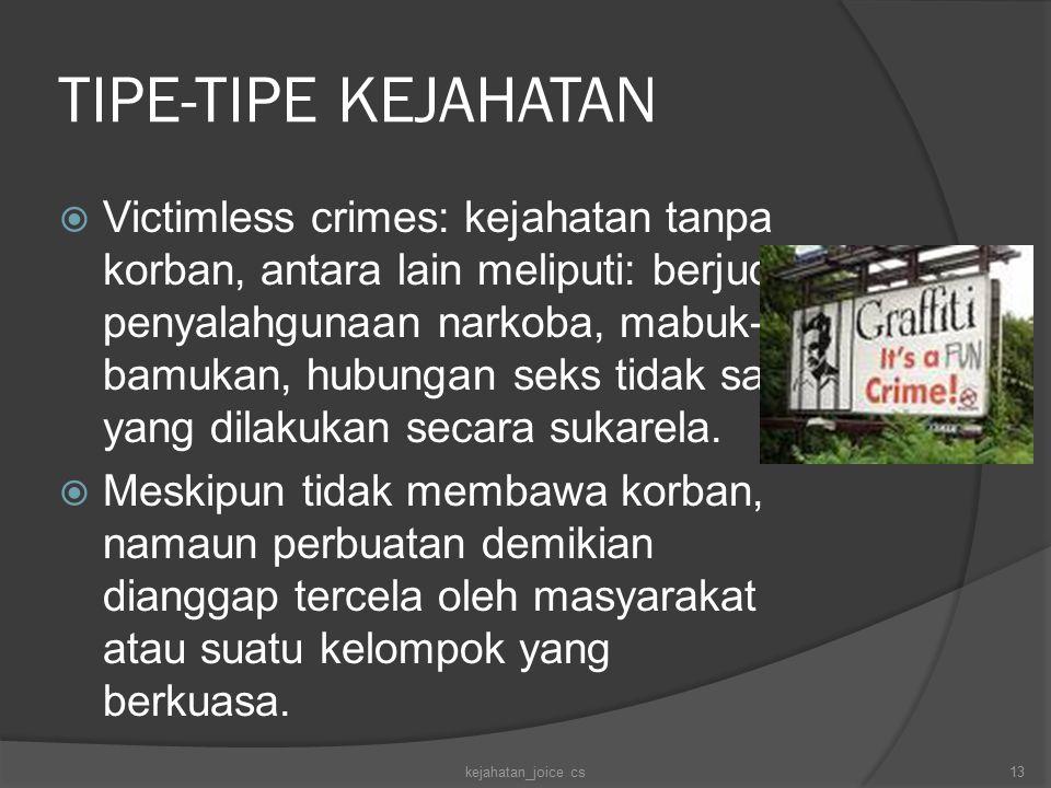 TIPE-TIPE KEJAHATAN