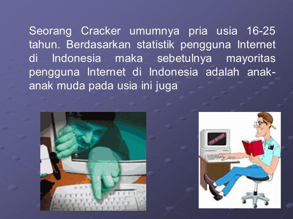 Seorang Cracker umumnya pria usia 16-25 tahun
