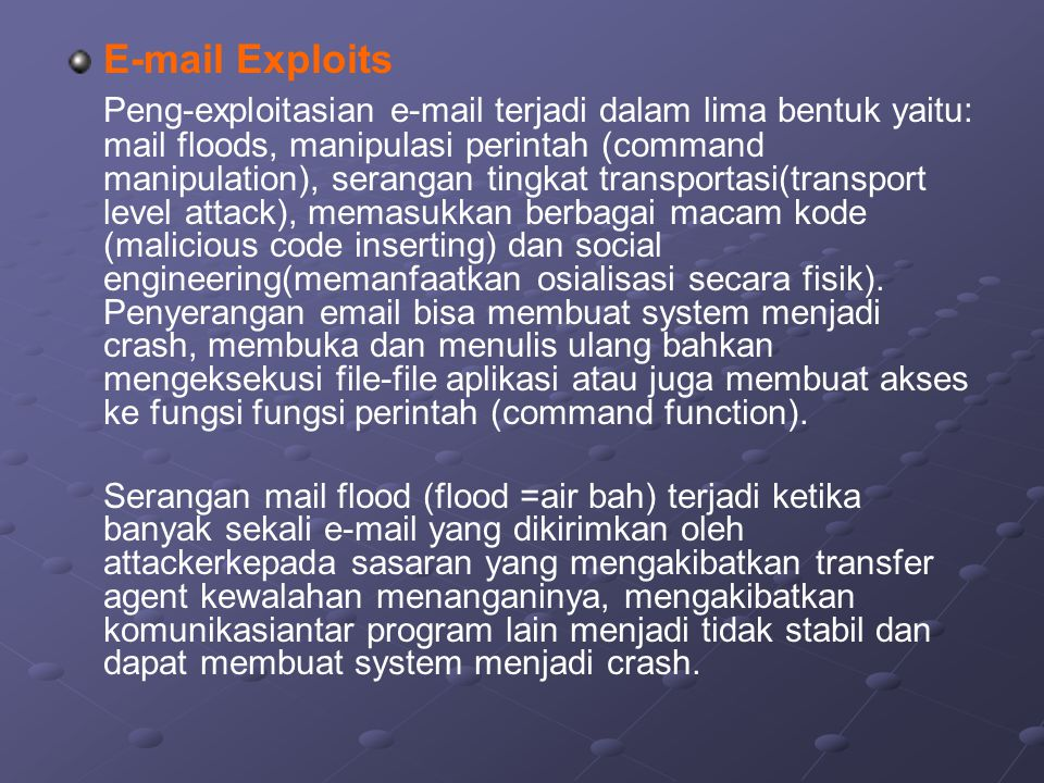 E-mail Exploits