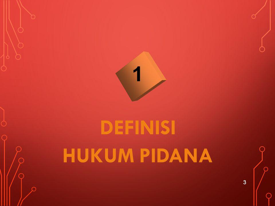 1 DEFINISI HUKUM PIDANA