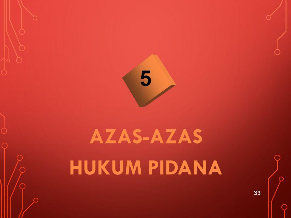 AZAS-AZAS HUKUM PIDANA