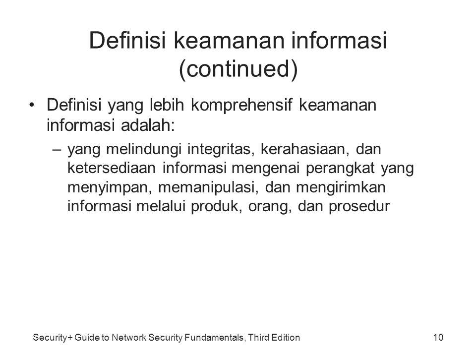 Definisi keamanan informasi (continued)